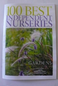 Front cover of Gardens Illustrated 100 best nurseries guide
